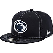 New Era Men's Penn State Nittany Lions Blue Sideline Road 9Fifty Adjustable Snapback Hat