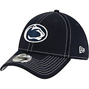 New Era Men's Penn State Nittany Lions Blue Sideline Road 39Thirty Stretch Fit Hat