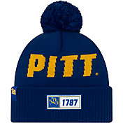 New Era Men's Pitt Panthers Blue Sideline Road Cuffed Knit Beanie