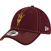 New Era Men's Arizona State Sun Devils Maroon Sideline Road 39Thirty Stretch Fit Hat