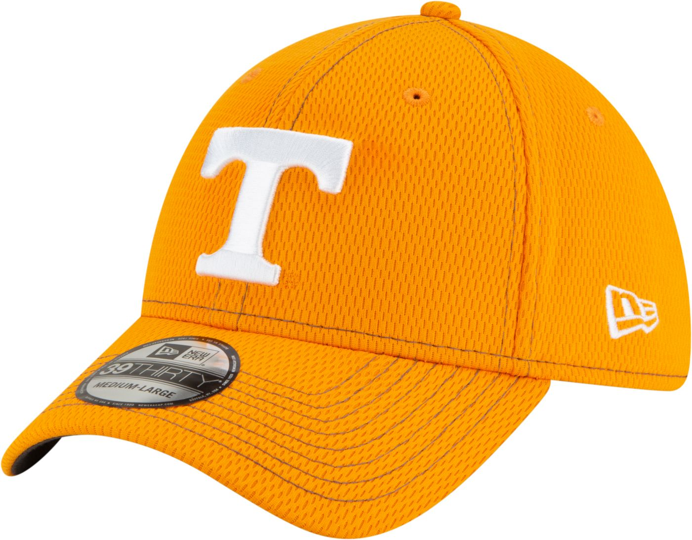 New Era Men's Tennessee Volunteers Tennessee Orange Sideline Road 39Thirty Stretch Fit Hat