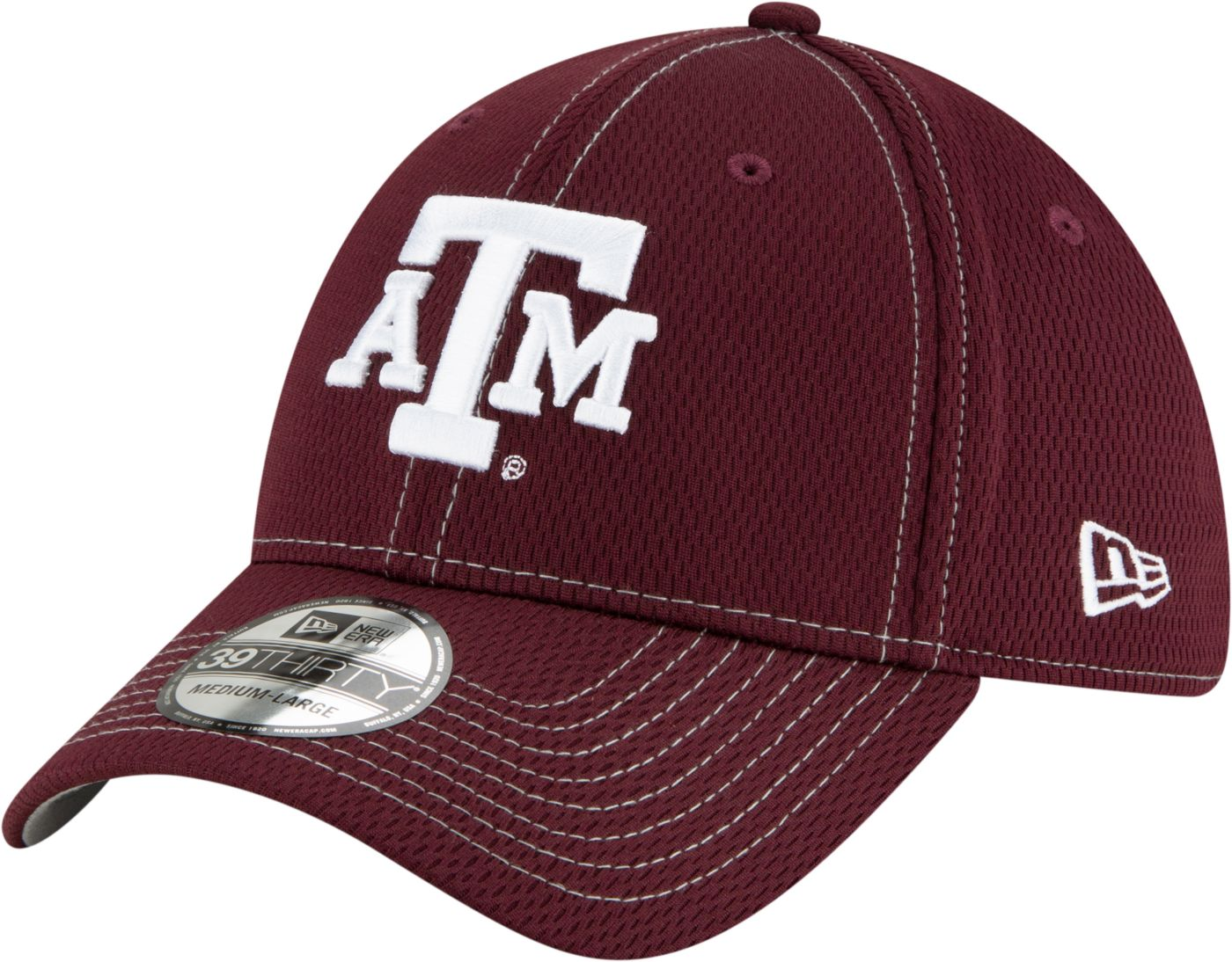 New Era Men's Texas A&M Aggies Maroon Sideline Road 39Thirty Stretch Fit Hat