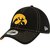 New Era Men's Iowa Hawkeyes Sideline Road 39Thirty Stretch Fit Black Hat