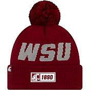 New Era Men's Washington State Cougars Crimson Sideline Road Cuffed Knit Beanie