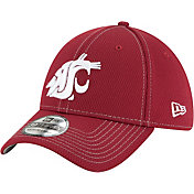 New Era Men's Washington State Cougars Crimson Sideline Road 39Thirty Stretch Fit Hat