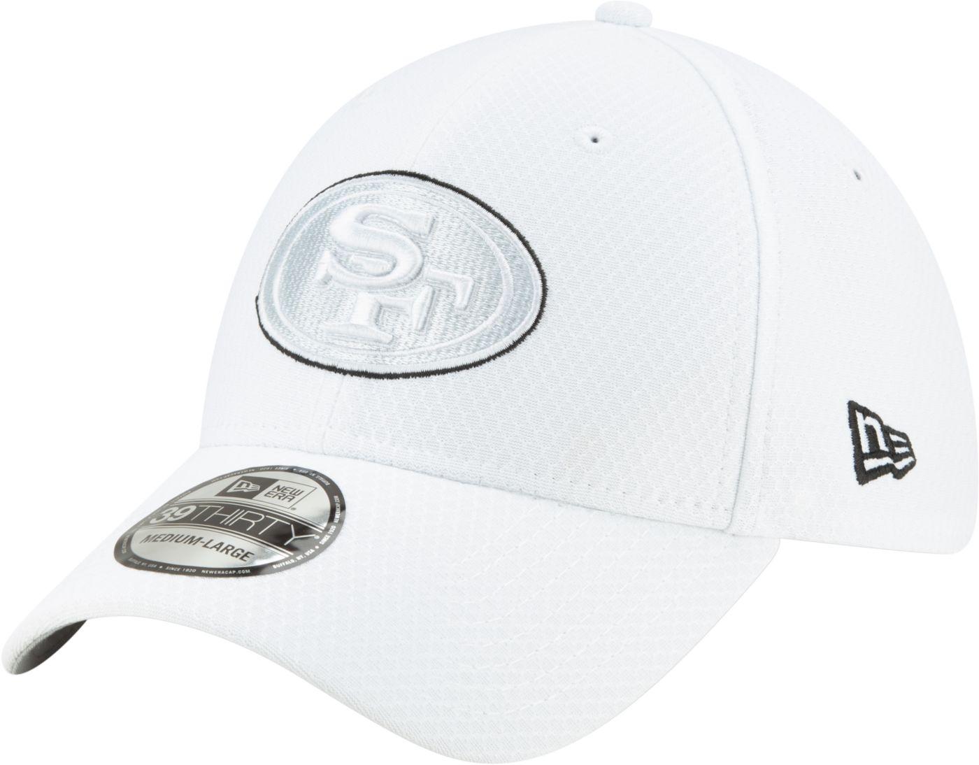New Era Men's San Francisco 49ers Sideline 100th 39Thirty Stretch Fit White Hat