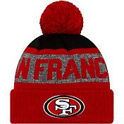 New Era Men's San Francisco 49ers Red Pom Knit