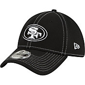New Era Men's San Francisco 49ers Sideline Road 39Thirty Stretch Fit Black Hat