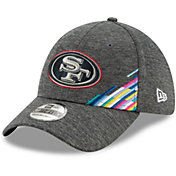 New Era Men's San Francisco 49ers Sideline Crucial Catch 39Thirty Graphite Stretch Fit Hat