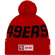 New Era Men's San Francisco 49ers Sideline Road Sport Pom Knit