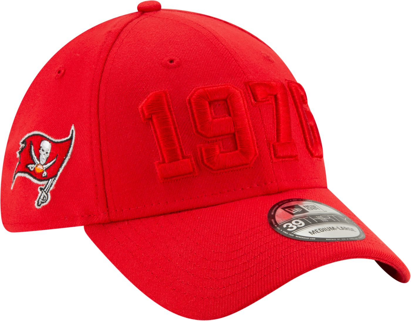 New Era Men's Tampa Bay Buccaneers Sideline Color Rush 39Thirty Stretch Fit Hat