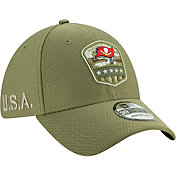 New Era Men's Salute to Service Tampa Bay Buccaneers 39Thirty Olive Stretch Fit Hat
