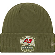 New Era Men's Salute to Service Tampa Bay Buccaneers Olive Cuffed Knit