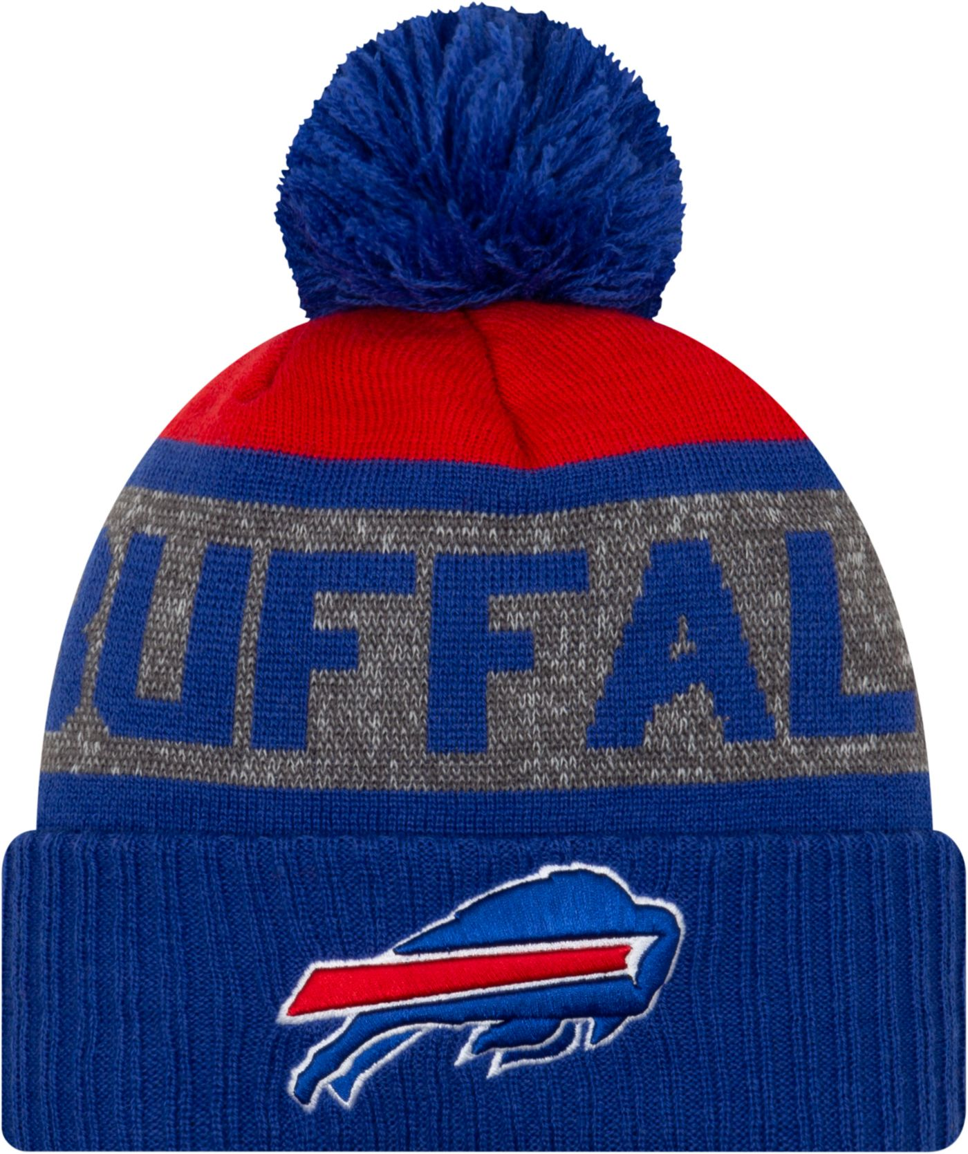 New Era Men's Buffalo Bills Royal Pom Knit