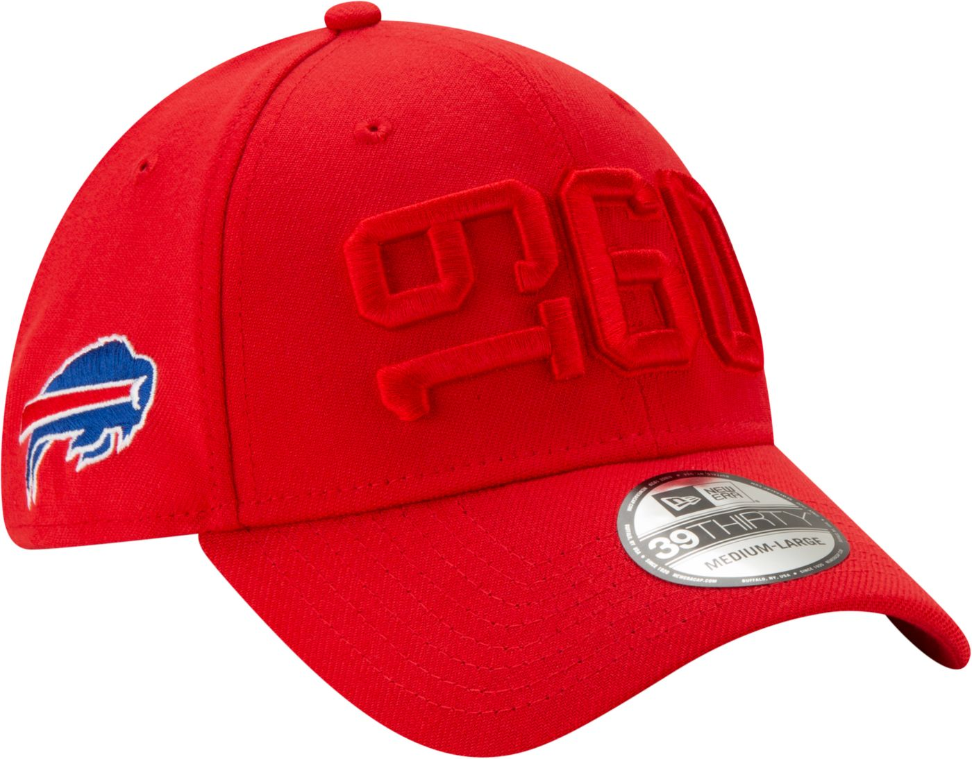 New Era Men's Buffalo Bills Sideline Color Rush 39Thirty Stretch Fit Hat