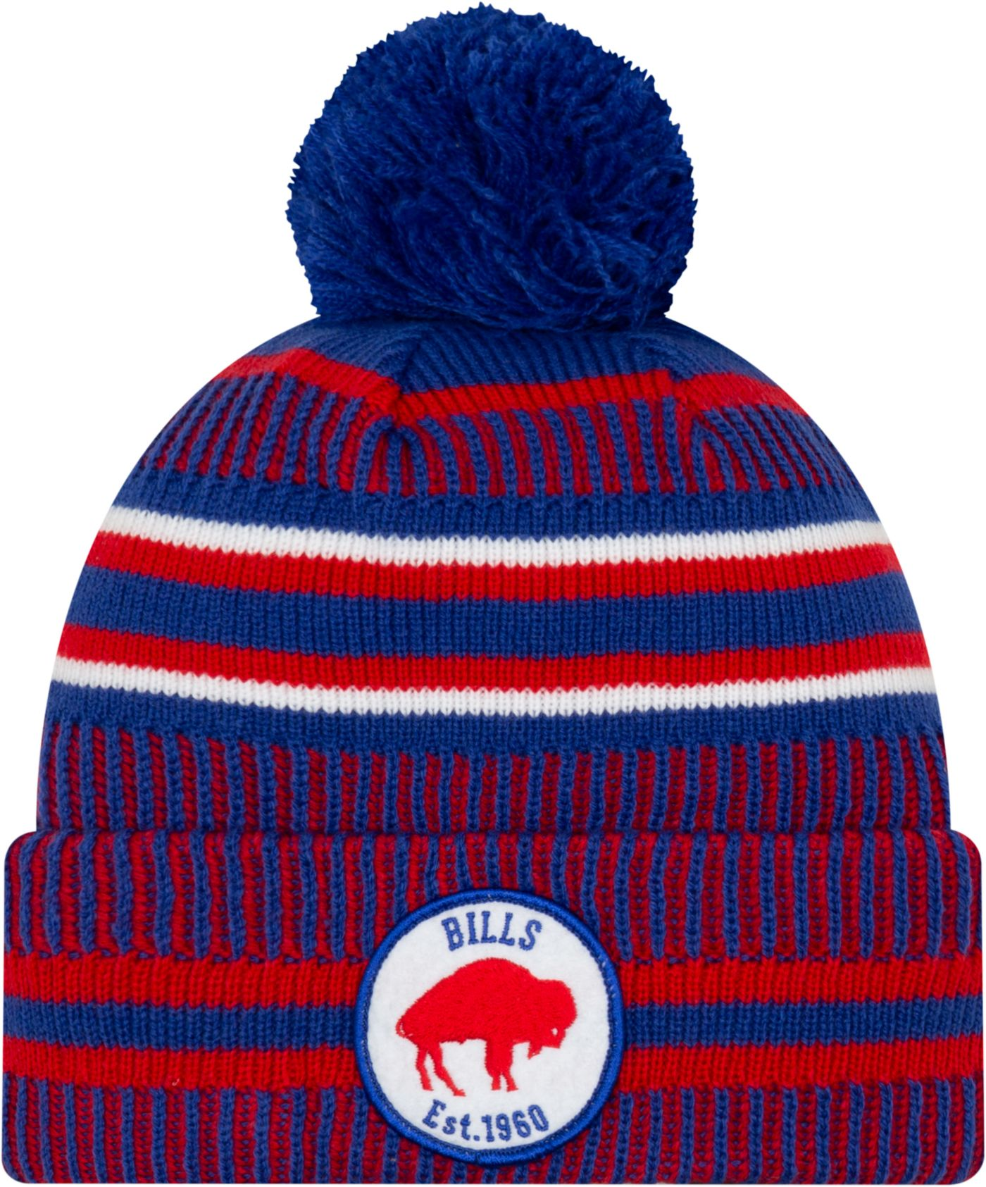 New Era Men's Buffalo Bills Sideline Home Sport Pom Knit