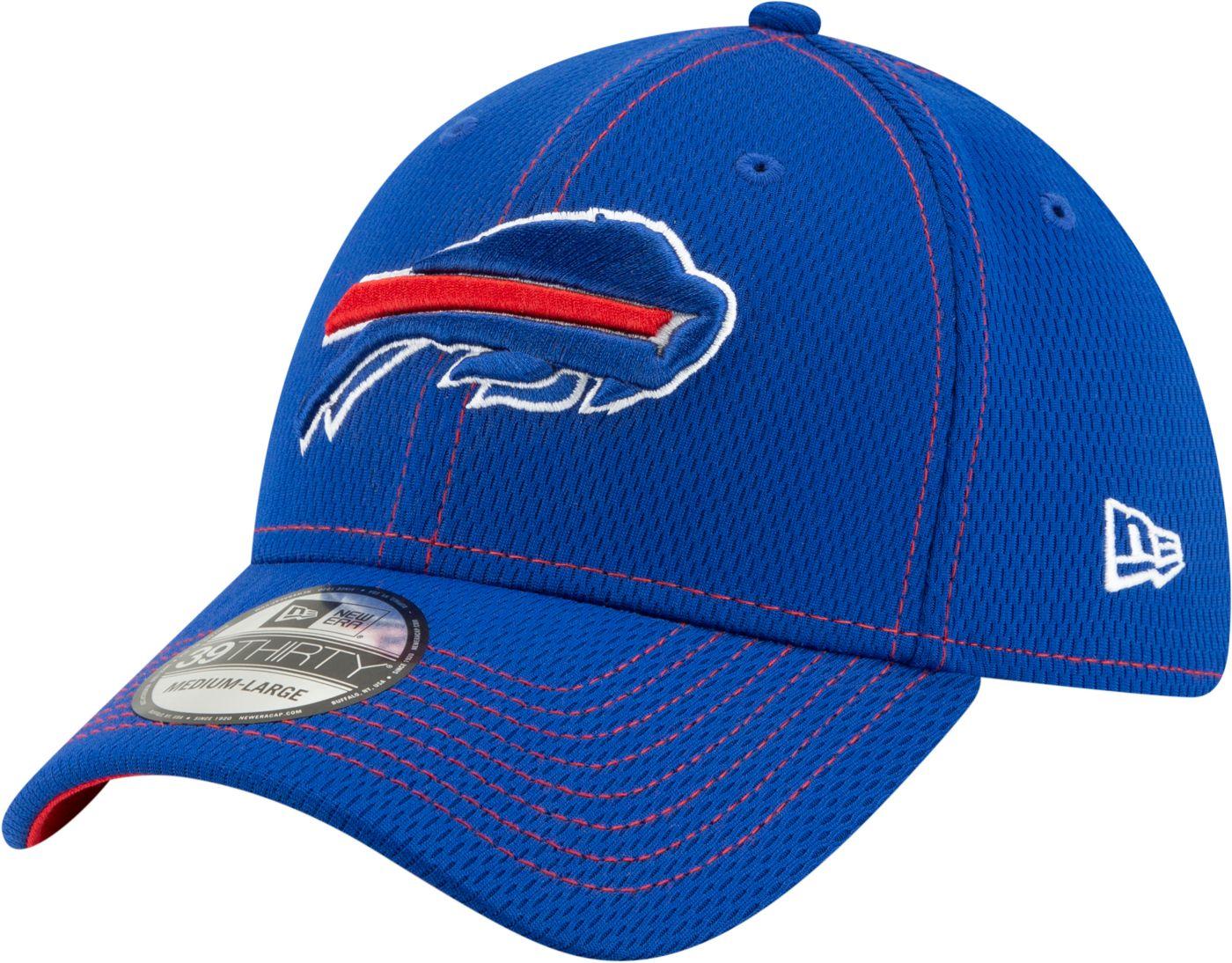 New Era Men's Buffalo Bills Sideline Road 39Thirty Stretch Fit Hat