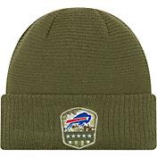New Era Men's Salute to Service Buffalo Bills Olive Cuffed Knit