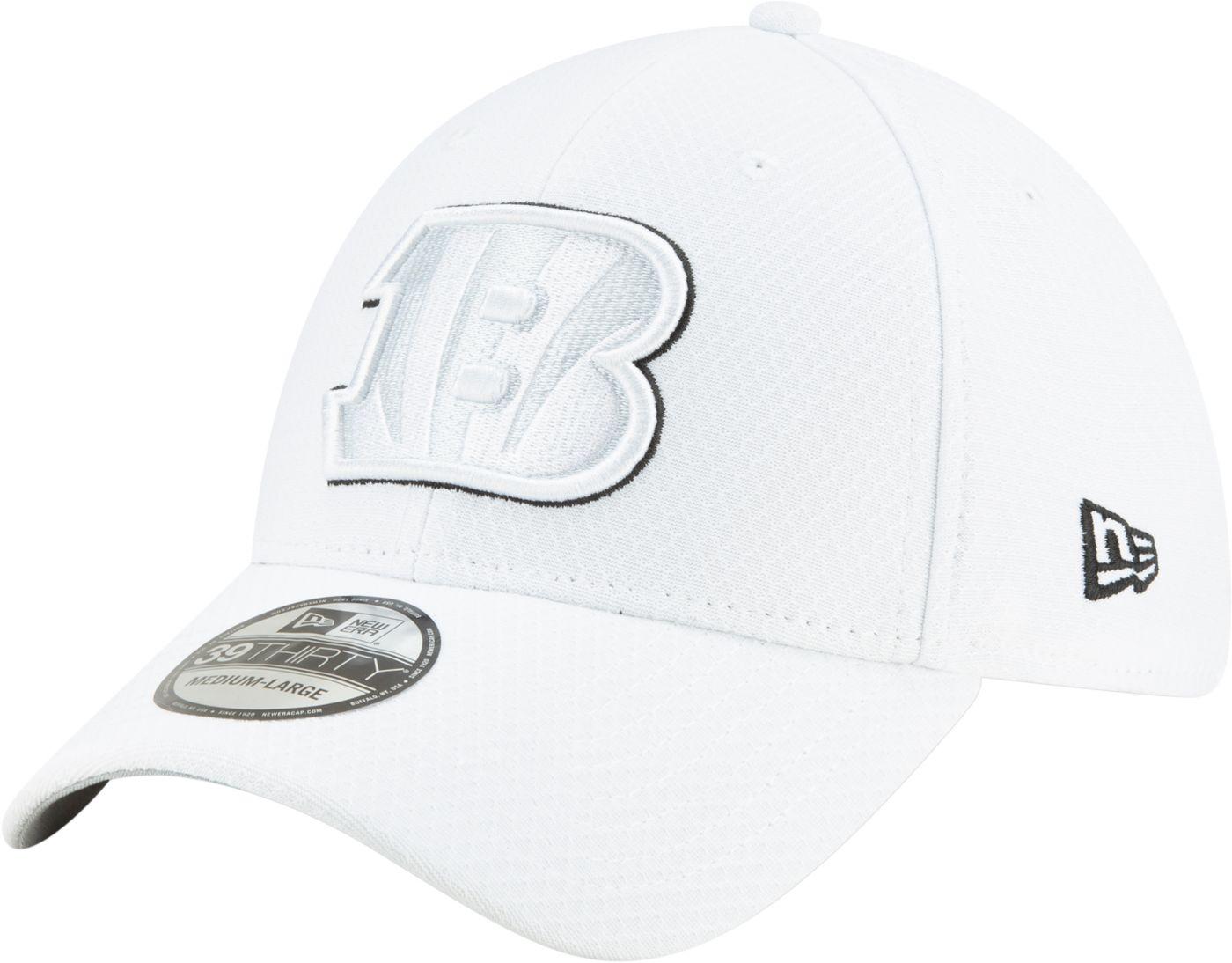 New Era Men's Cincinnati Bengals Sideline 100th 39Thirty Stretch Fit White Hat