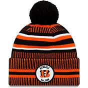 New Era Men's Cincinnati Bengals Sideline Home Sport Pom Knit