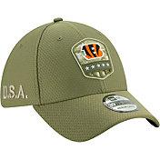 New Era Men's Salute to Service Cincinnati Bengals 39Thirty Olive Stretch Fit Hat