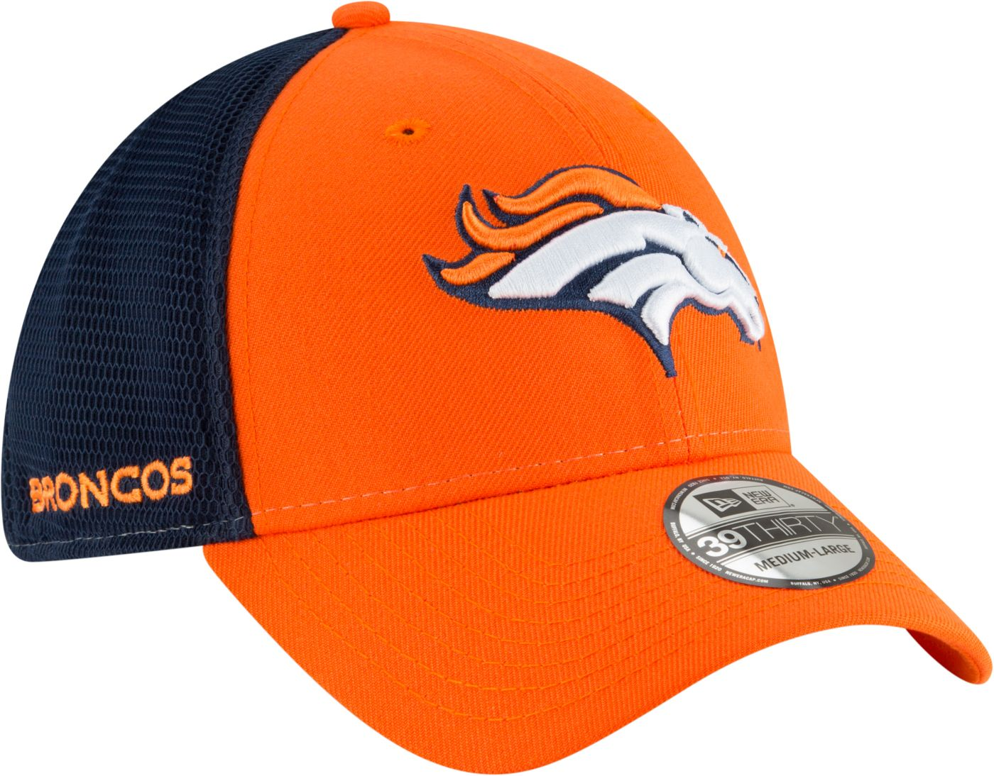 New Era Men's Denver Broncos 2Tone Sided 39Thirty Stretch Fit Hat