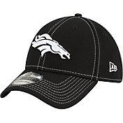 New Era Men's Denver Broncos Sideline Road 39Thirty Stretch Fit Black Hat