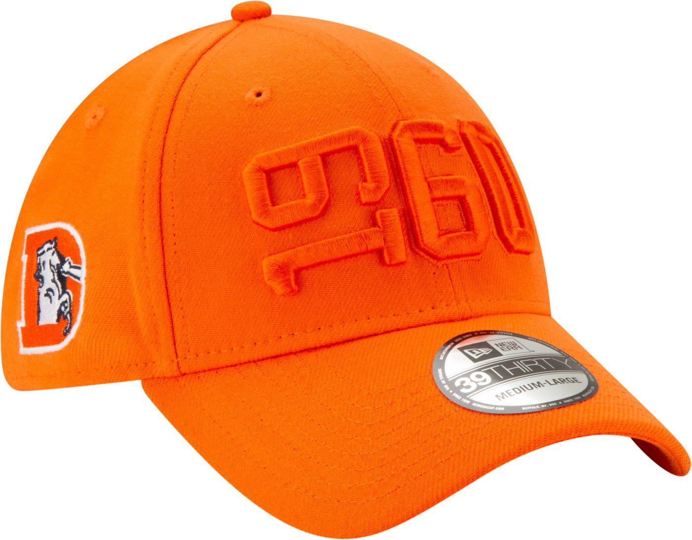 New Era Men's Denver Broncos Sideline Color Rush 39Thirty Stretch Fit Hat