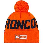 New Era Men's Denver Broncos Sideline Road Sport Pom Knit