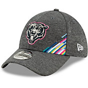 New Era Men's Chicago Bears Sideline Crucial Catch 39Thirty Graphite Stretch Fit Hat