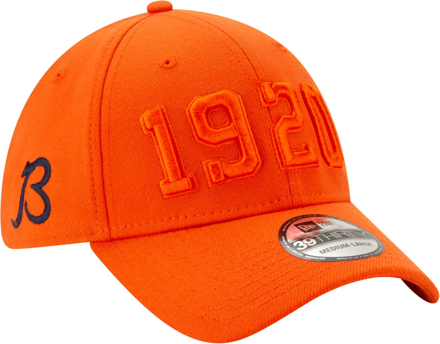 New Era Men's Chicago Bears Sideline Color Rush 39Thirty Stretch Fit Hat