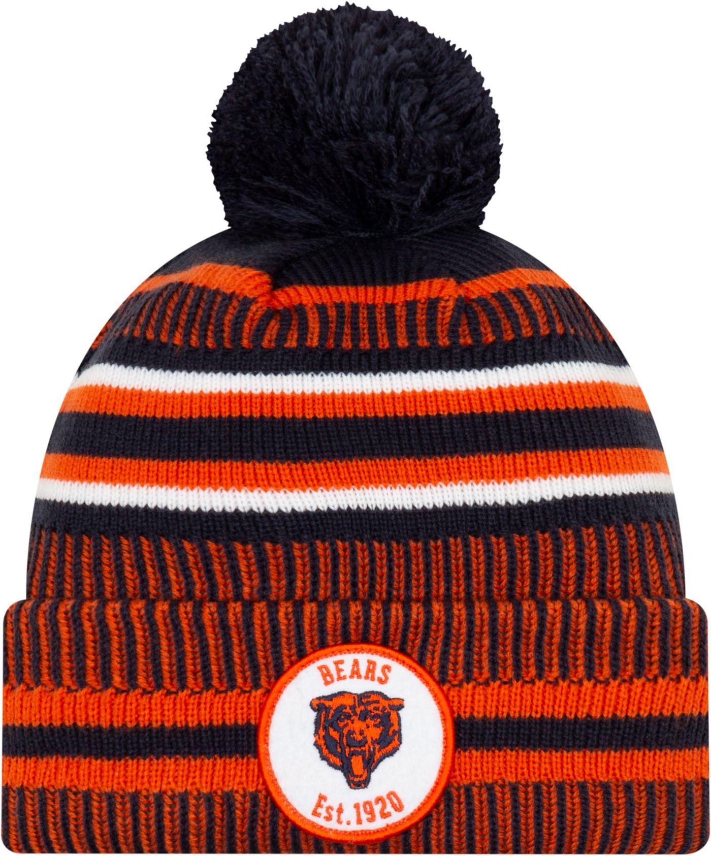 New Era Men's Chicago Bears Sideline Home Sport Pom Knit