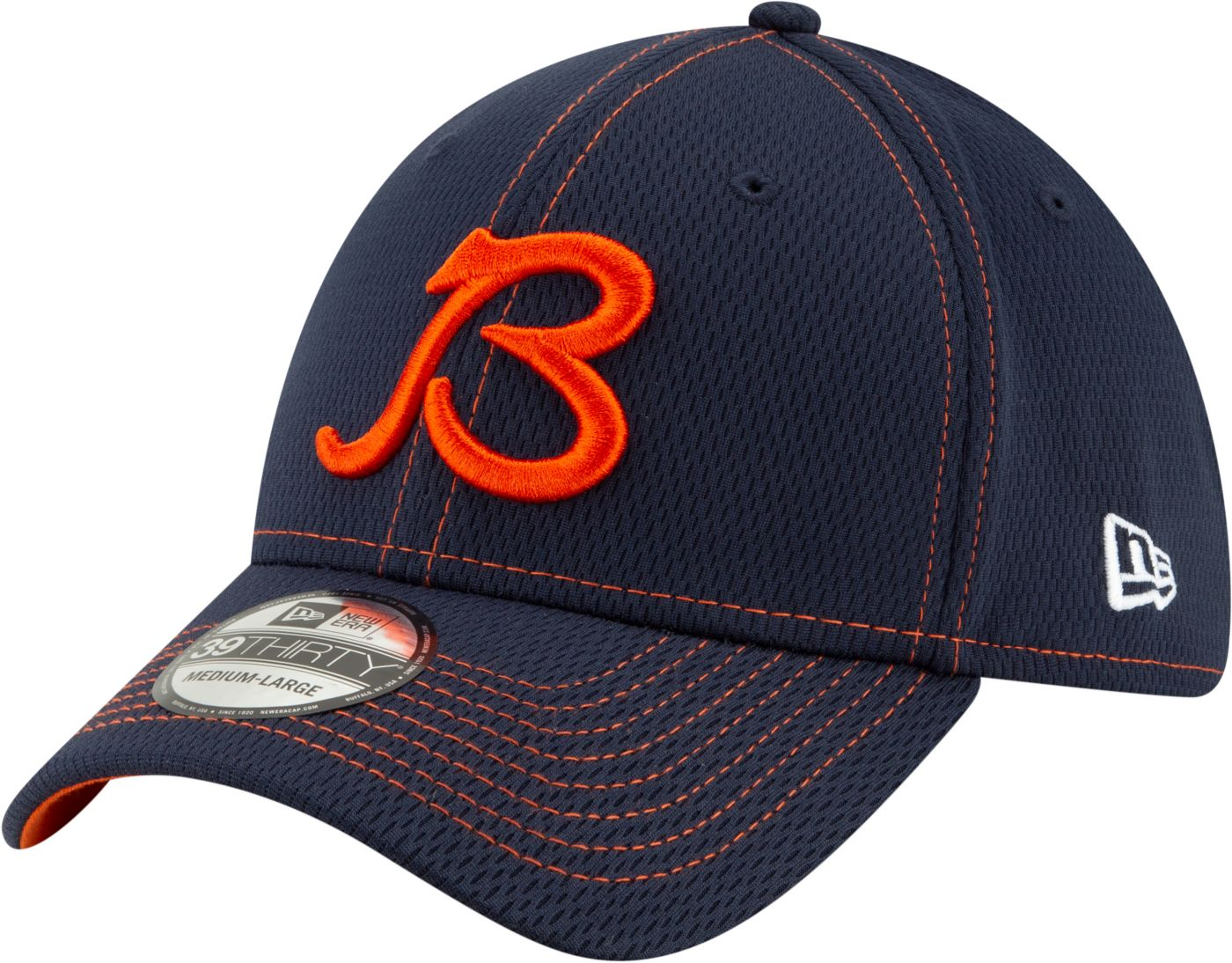 New Era Men's Chicago Bears Sideline Road 39Thirty Stretch Fit Hat