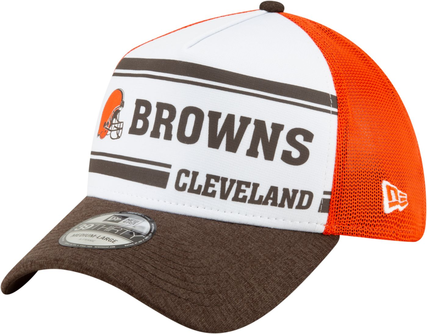 New Era Men's Cleveland Browns Sideline Home 39Thirty Stretch Fit Hat
