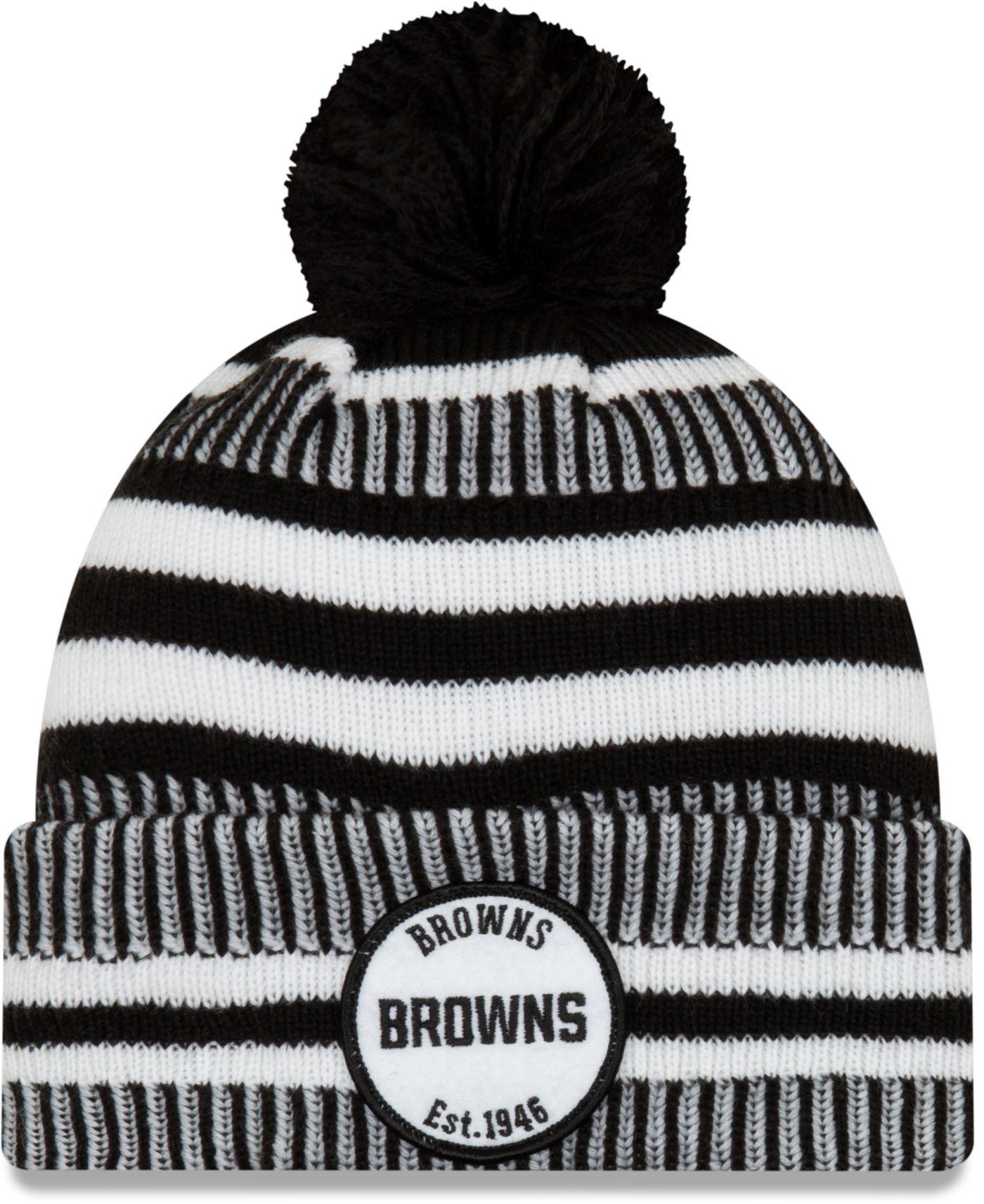 New Era Men's Cleveland Browns Sideline Home Sport Pom Knit