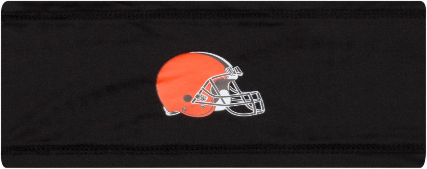 New Era Men's Cleveland Browns 100th Sideline Logo Black Headband
