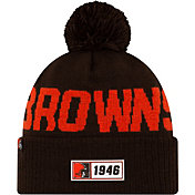 New Era Men's Cleveland Browns Sideline Road Sport Pom Knit