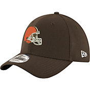 New Era Men's Cleveland Browns Team Classic 39Thirty Brown Stretch Fit Hat