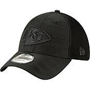 New Era Men's Kansas City Chiefs Neo Camo Front 39Thirty Black Stretch Fit Hat