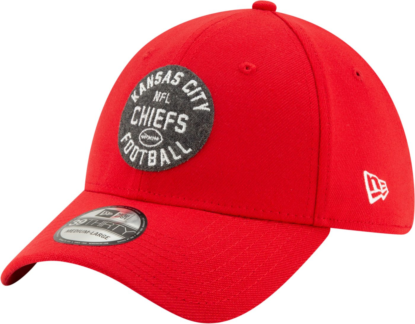 New Era Men's Kansas City Chiefs Sideline Home 39Thirty Stretch Fit Hat