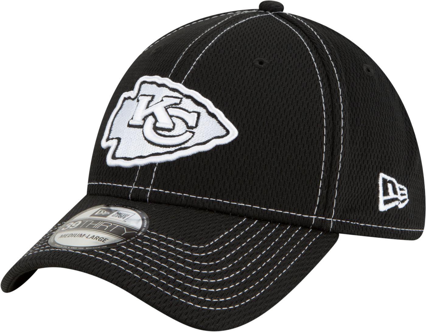 New Era Men's Kansas City Chiefs Sideline Road 39Thirty Stretch Fit Black Hat