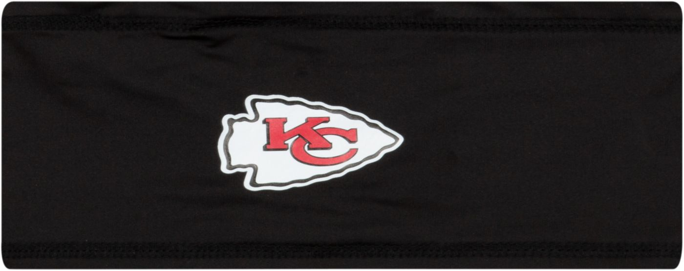 New Era Men's Kansas City Chiefs 100th Sideline Logo Black Headband