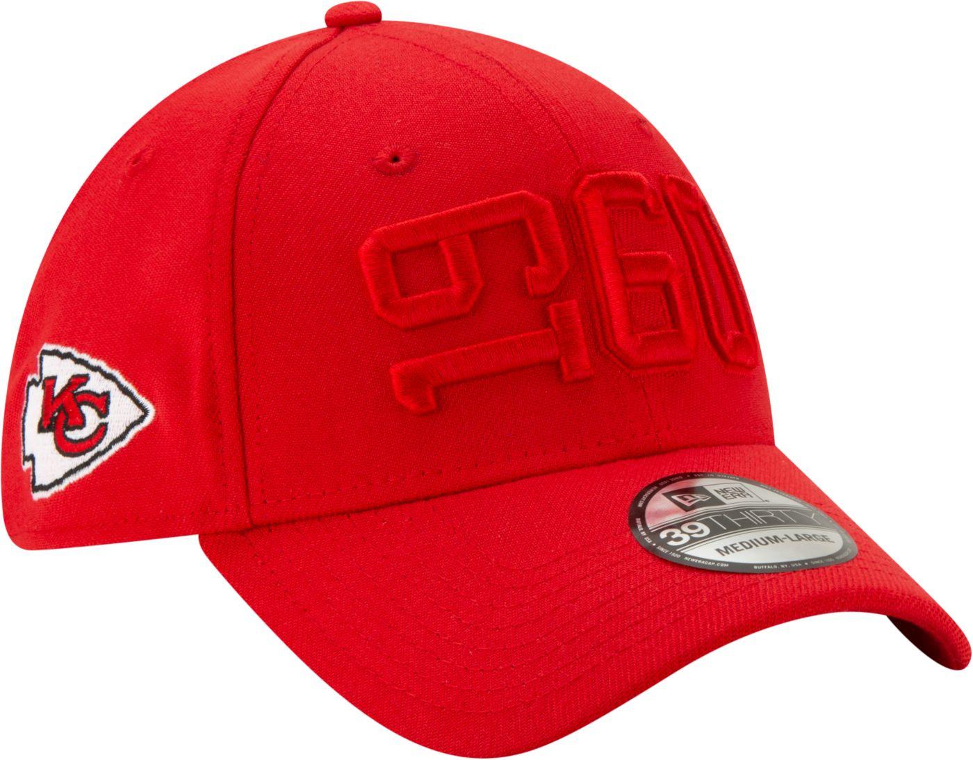 New Era Men's Kansas City Chiefs Sideline Color Rush 39Thirty Stretch Fit Hat