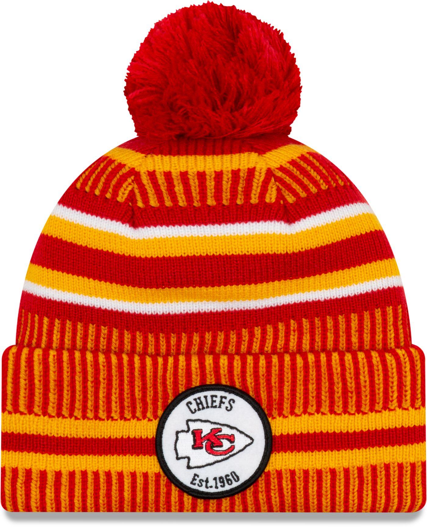 New Era Men's Kansas City Chiefs Sideline Home Sport Pom Knit