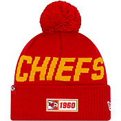 New Era Men's Kansas City Chiefs Sideline Road Sport Pom Knit