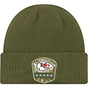 New Era Men's Salute to Service Kansas City Chiefs Olive Cuffed Knit