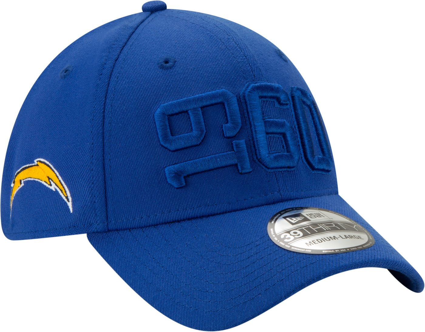 New Era Men's Los Angeles Chargers Sideline Color Rush 39Thirty Stretch Fit Hat