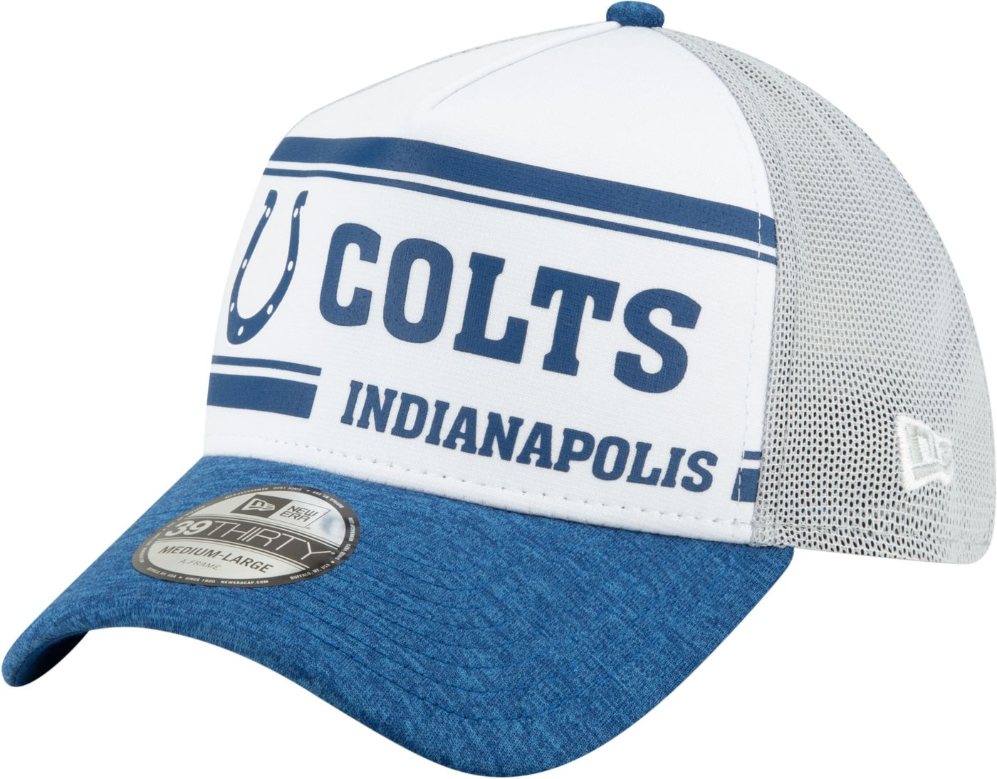 New Era Men's Indianapolis Colts Sideline Home 39Thirty Stretch Fit Hat