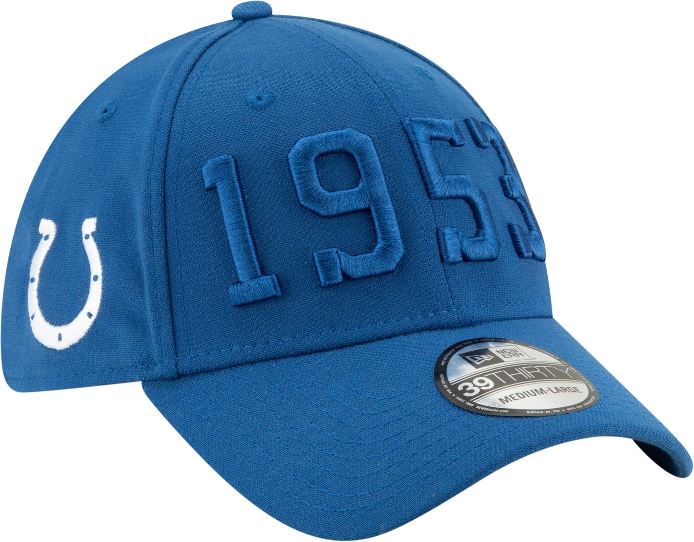 New Era Men's Indianapolis Colts Sideline Color Rush 39Thirty Stretch Fit Hat
