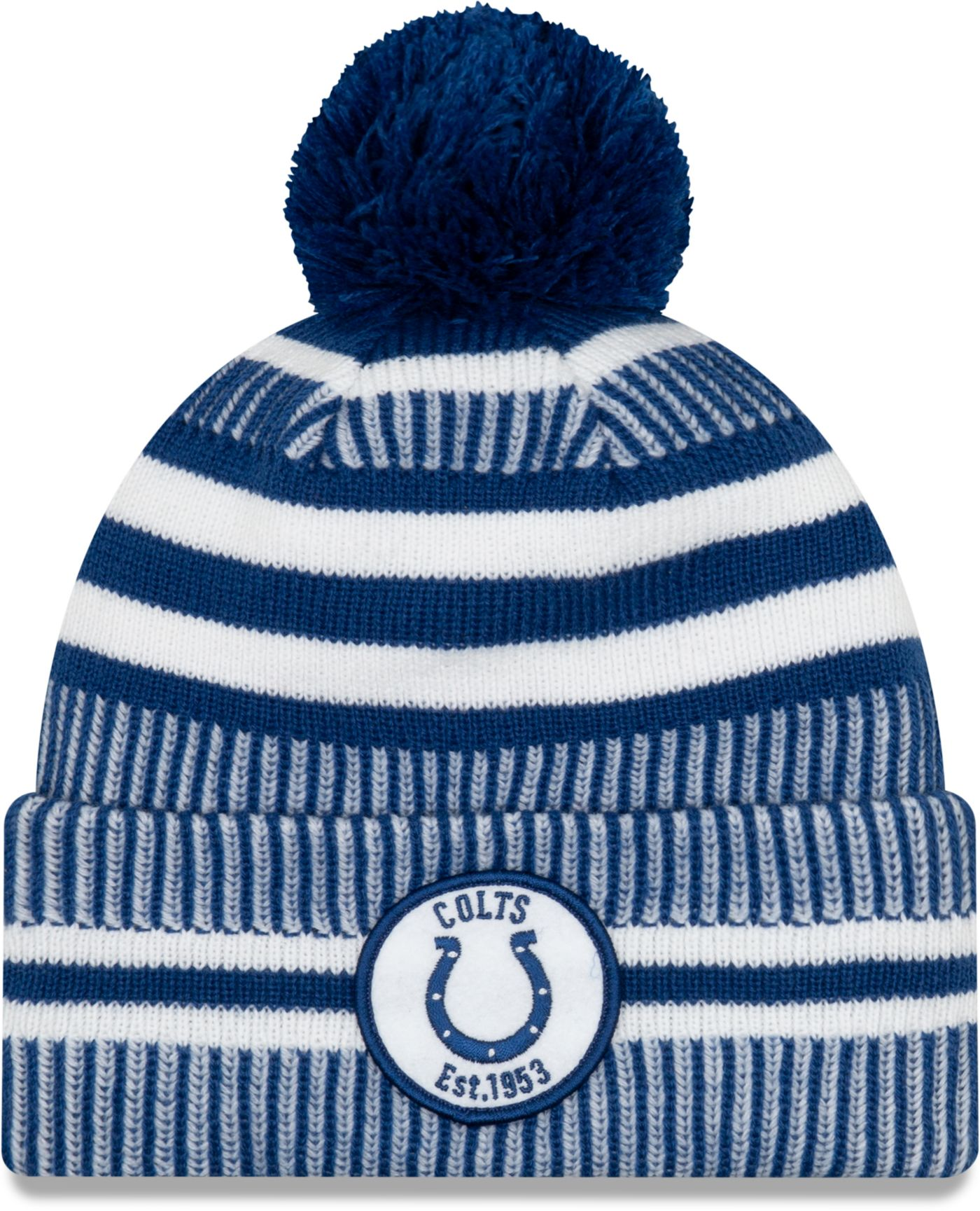 New Era Men's Indianapolis Colts Sideline Home Sport Pom Knit